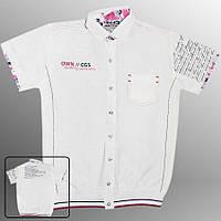 Рубашка подростковая (Белый с черным)