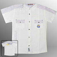 Рубашка подростковая (Белый с фиолетовым)