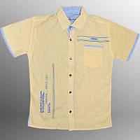 Рубашка детская (Белый с желтым)