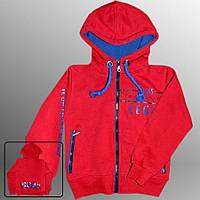 Детская утеплённая кофта (худи) (Красный)