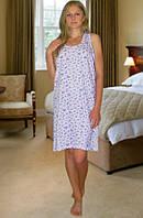 Ночная сорочка Бабушкина майка (Фиолетовая клетка)