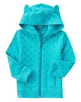 Худи-пуловер на молнии для девочки 3 года Бирюза Crazy8 (США)