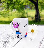 "Чашка c декором ""Морячка"" Подарок в морском стиле Сувенир морской тематики, фото 1"