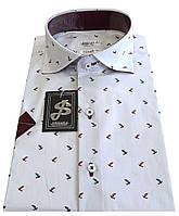 Рубашка мужская с коротким рукавом в принт  ST 55.5, фото 1
