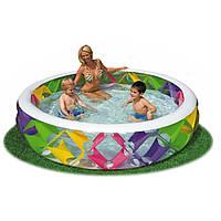 Семейный круглый бассейн с прозрачными стенками Intex 56494