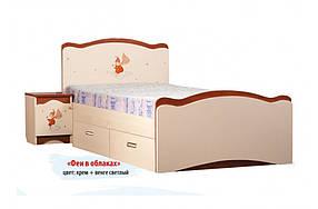 Кровать с ящиком «Феи в облаках» Венге светлый/Крем/Яблоня локарно (ТМ Вальтер)