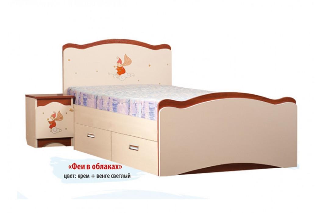 Кровать «Феи в облака» с 2 ящиками (ТМ Вальтер)