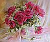 «Розовые пионы» картина маслом