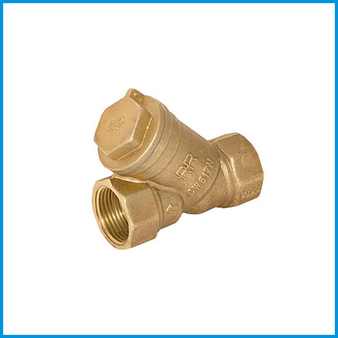 Фильтр латунный муфтовый для воды Ду 15
