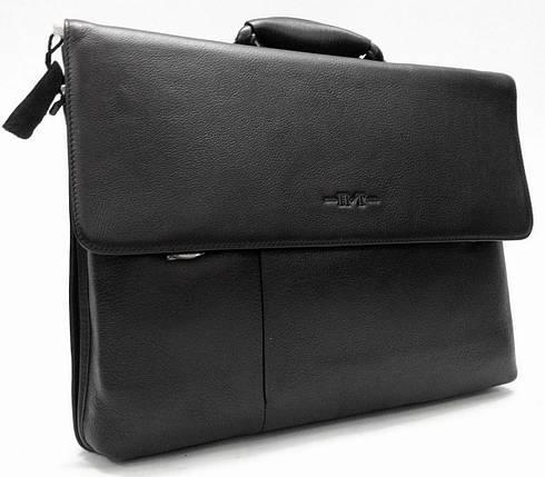Практичный мужской портфель из натуральной кожи, фото 2