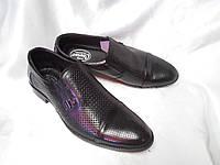 Летние классические туфли Cevivo из натуральной кожи Черный