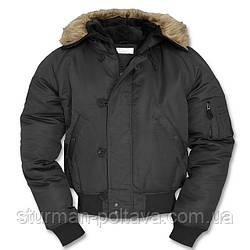 Куртка чоловіча зимова коротка Аляски N2B Mil-Tec колір чорний Німеччина