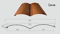 Блок - хаус ( бревно ) Сайдинг из стали 0,45мм с покрытием Printech под дерево