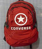 Рюкзак Converse 114027 красный спортивный школьный на три отдела размер 30 см х 44 см х 23 см объем 30 л