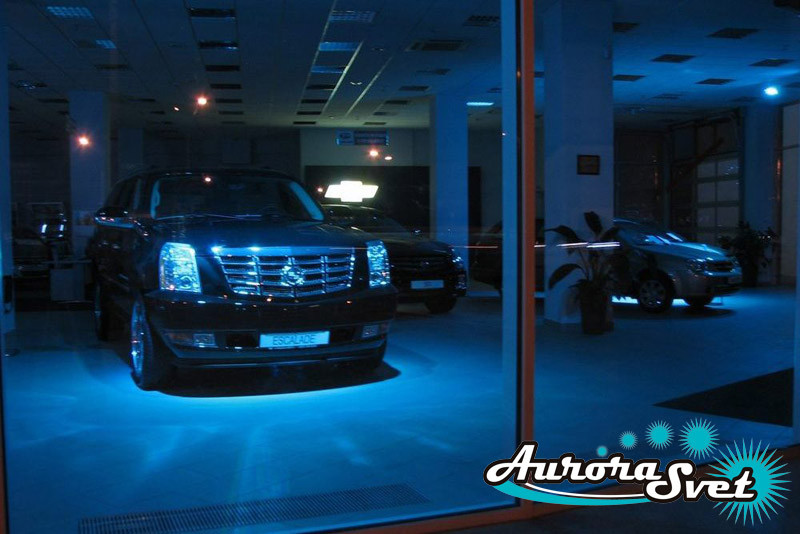 Освещение автосалонов. Освещение помещений. LED подсветка зданий и сооружений.