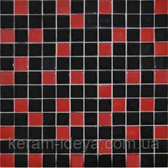 Мозаика Grand Kerama 300x300 микс красно-черный 758