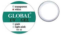 "Белый конструирующий гель (White Gel) ""Global"" 15g"
