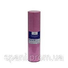 Розовая простынь одноразовая на кушетку или массажный стол в рулоне (спандбонд) Monaco Style 0,6х200 м, пл 20