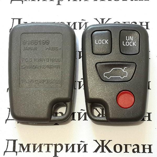 Корпус пульта для Volvo (Вольво) 3 кнопки + 1 (panic)