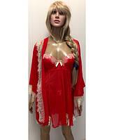 Пеньюар Халат №8317 + Рубашка №8318 KR-1823 (красный)
