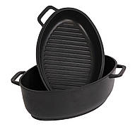 Гусятница биол с крышкой сковородкой-гриль 4 л, фото 1