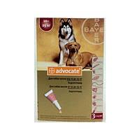 Advocate (Адвокат) для собак массой от 10 до 25 кг,от блох, клещей, глистов