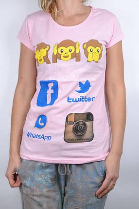 Футболка Monkey`s Светло-розовый (WT6266/4) | 4 шт., фото 2