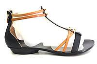 Босоножки женские Basconi черные из натуральной кожи без каблука, женские босоножки