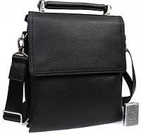 Мужская кожаная сумка для документов А4 Alvi av-41-8721 черная