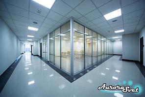 Освещение офисов. LED освещение помещений. Светодиодное освещение зданий и сооружений.