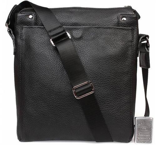 Руководительская мужская сумка из натуральной кожи формата А4 Alvi av-849, черная