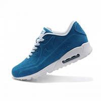 """Кроссовки женские Nike Air Max 90 VT Tweed """"Голубые с белыми шнурками"""", фото 1"""