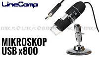 Микроскоп цифровой USB приближение x800 2 мп LineComp
