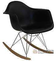 """Кресло качалка """"Лаунж"""" (ПЛ черный)"""