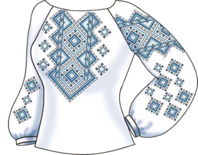 СВЖБ-36. Заготовка Жіноча сорочка лляна біла -