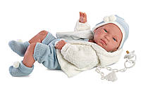 Llorens - новорожденная кукла мальчик Tino, 43 см, фото 1