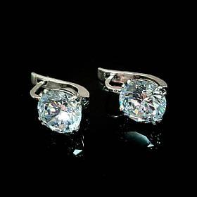 Серебряные серьги с большими фианитами