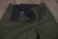 Штаны ватные зелёные