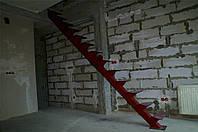Металлокаркас лестницы однокосоурный
