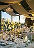 Оформление зала на свадьбу тканью  , фото 3