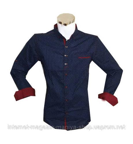 Рубашка мужская батал приталенный крой