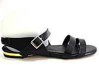 Босоножки женские Gaterinna черные без каблука, женские босоножки