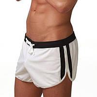 Мужские пляжные шорты, плавки белый цвет