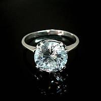 Серебряное кольцо с большим  фианитом