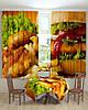 Фотошторы и скатерть на кухню гамбургер, фото 2