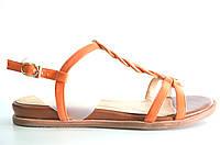 Босоножки женские Gaterinna оранжевые без каблука, женские босоножки