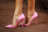 Розовые туфли-лодочки Christian Louboutin ,КОЖА. Копия ЛЮКС
