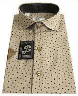 Рубашка мужская с коротким рукавом в принт  ST 55.6  , фото 1