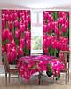 Фотошторы и фотоскатерть на кухню тюльпаны, фото 2