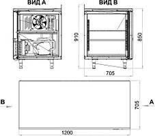Холодильний стіл Polair TM2GN-G, фото 2